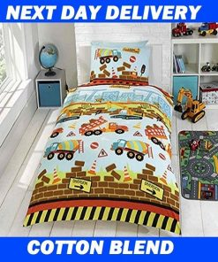 Boys Truck Construction Duvet