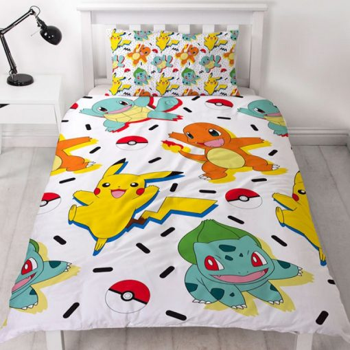 Pokemon Memphis Single quilt duvet doona bedding cover