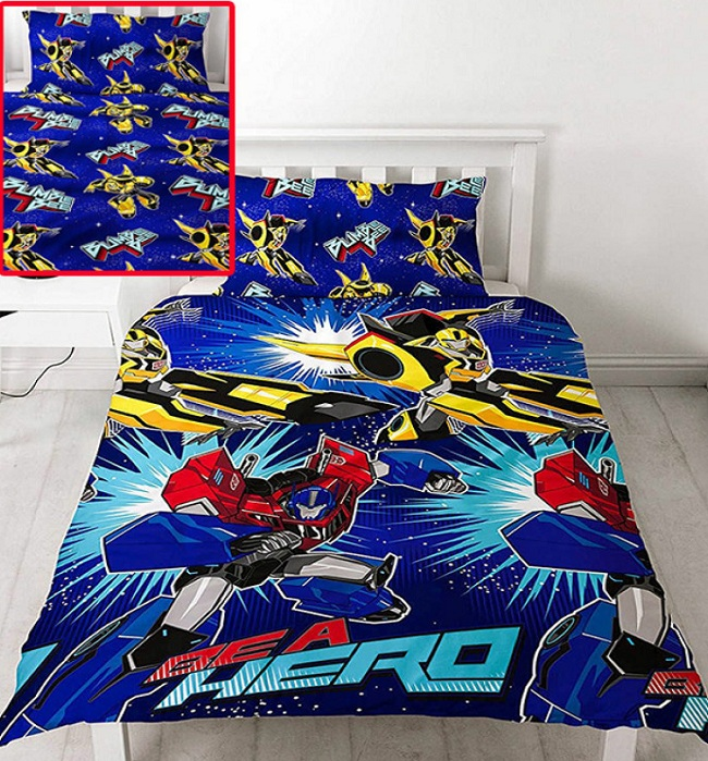 Transformers Kids Quilt Cover Set Reversible Savvy
