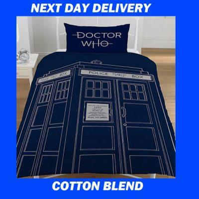Dr. Who Tardis Single Kids Licensed Duvet Bedding Cover Sets