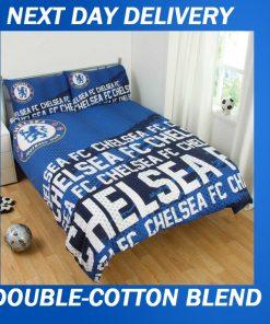 Chelsea Football Club Duvet Double Doona Quilt Bedding Cover Set