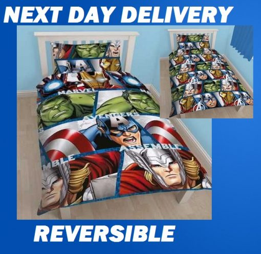 Marvel CoMarvel Comics Quilt Covermics Shield Single Kids Licensed Duvet Bedding Cover Sets
