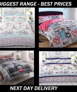 Paris single double queen quilt duvet doona bedding cover sets