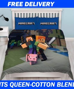 Kids Minecraft Quilt Cover