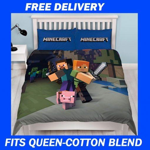 Kids Minecraft Quilt Cover