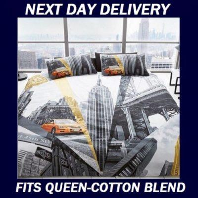 New York skyline Queen quilt duvet doona cover