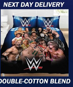 WWE Wrestling Duvet Double John Cena Doona Quilt Bedding Cover Set