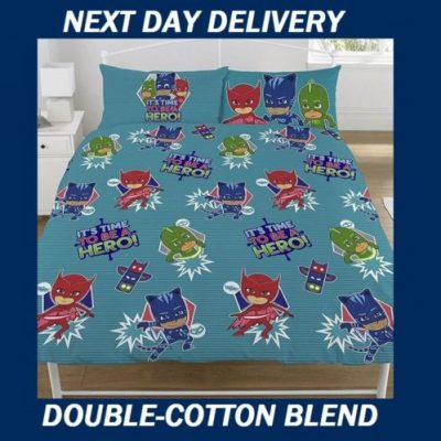 PJ Masks Double Duvet Quilt Doona cover set.