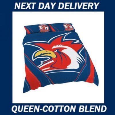 Sydney Roosters Queen quilt duvet doona bedding cover set