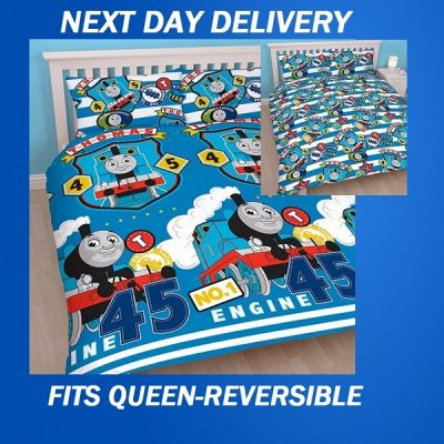 Thomas and Friends Patch Fits Queen Duvet Doona Quilt Cover set