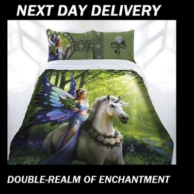 Anne Stokes Realm Of Enchantment Double quilt duvet doona cover