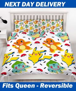 Pokemon Queen Quilt Doona Duvet bedding cover set
