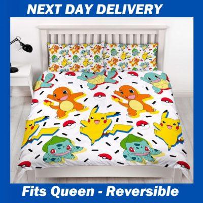 Pokemon Queen Quilt Doona Duvet bedding cover set