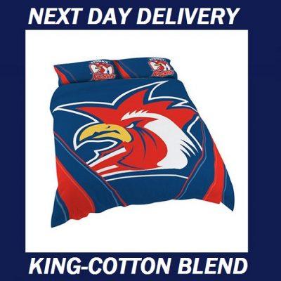 Sydney Roosters King quilt duvet doona bedding cover set