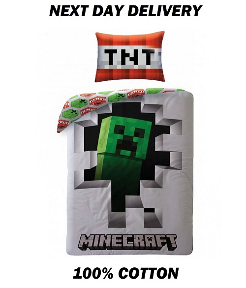 Minecraft Single Quilt cover