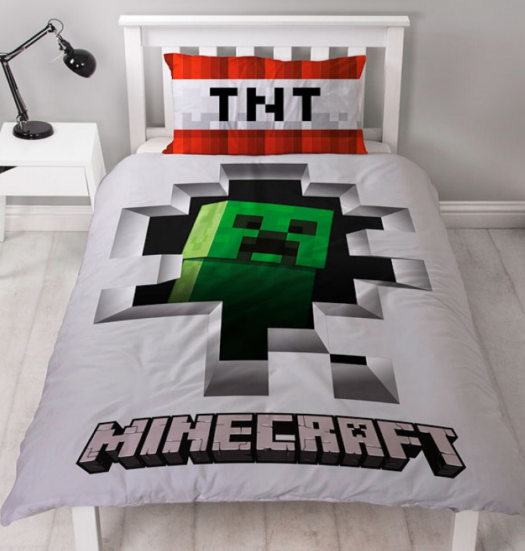 Minecraft Dynamite Single Quilt Cover Set Reversible