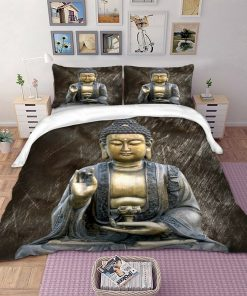 Buddha quilt cover set