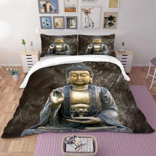 Buddha quilt cover set