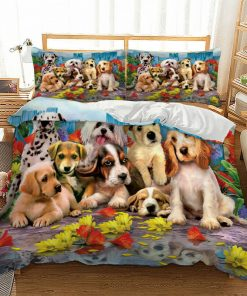 Dog Quilt Cover Set