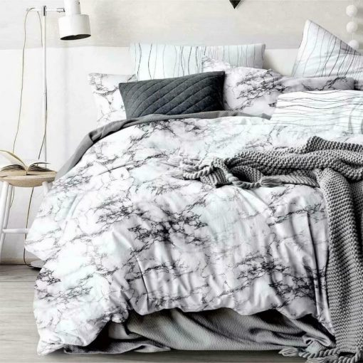 Marble Grey Quilt Cover set