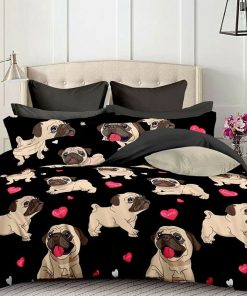 Pug Dog Quilt Cover