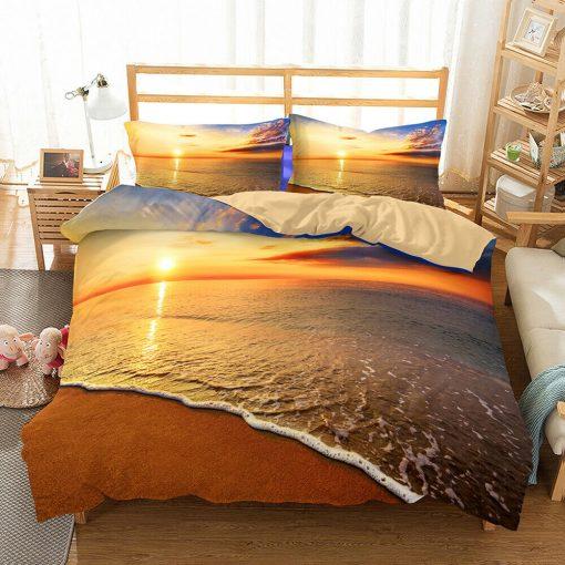 Sunset Beach Quilt Cover Set, ocean
