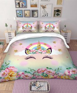 Rainbow Unicorn Quilt Cover