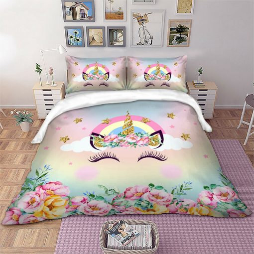 Rainbow Unicorn Quilt Cover