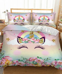 Rainbow Unicorn Quilt Cover set