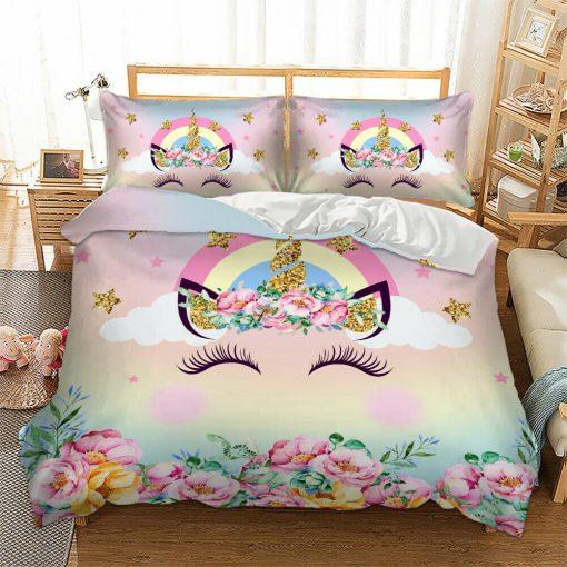Rainbow Unicorn Quilt Cover set