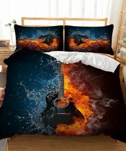 Guitar Quilt Cover Set
