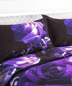 Rose Flower Quilt Cover Set