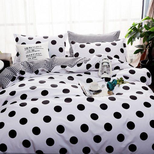 Black White Quilt Cover Set