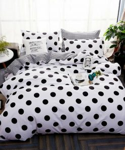Black White Quilt Cover Set