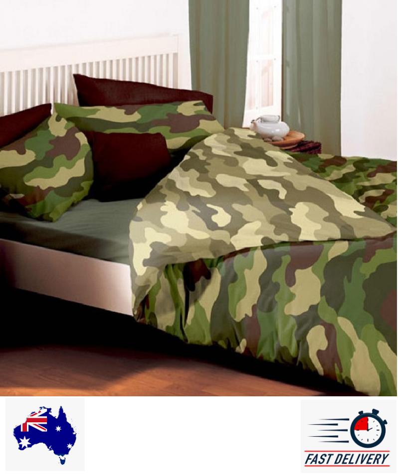 Army Camouflage Khaki Quilt Cover Set