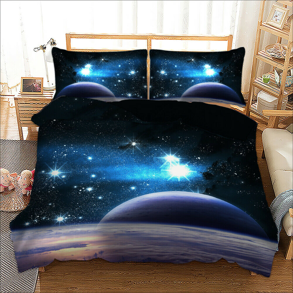 Galaxy moon Double/Queen/King - Quilt Cover Set, universe
