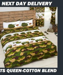 Army Camouflage Queen Kids Licensed Quilt Duvet Bedding Cover Sets