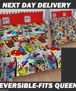 Avengers Marvel Comics Duvet Doona Quilt Bedding Cover Set