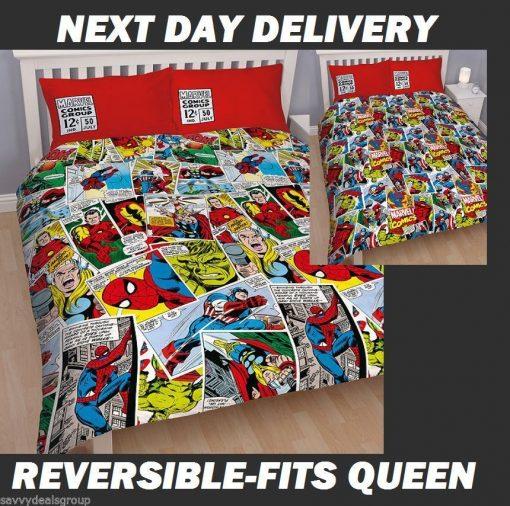 Avengers Marvel Comics Duvet Doona Quilt Bedding Cover Set