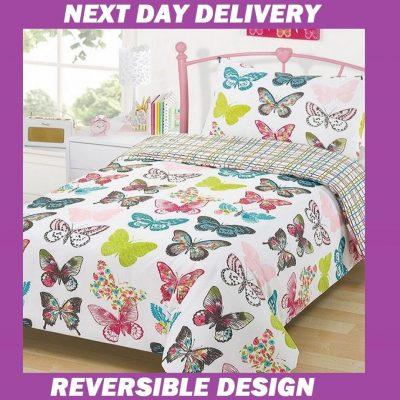 Butterfly Single Doona Cover Duvet Quilt Bedding Cover Set