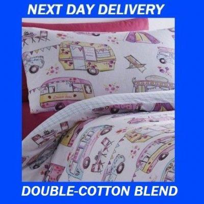 Campervan Double Quilt Duvet Doona Bedding Cover Set Camper Van