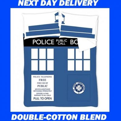 Doctor Who Tardis Double Kids Licensed Duvet Bedding Cover Sets