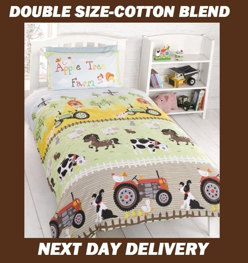 Farm Animals Quilt Cover Set Cotton Blend Savvy Deals