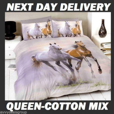 Galloping Horses Licensed Quilt Duvet Doona Bedding Cover
