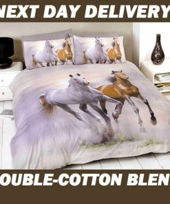 Galloping Horses Quilt Cover