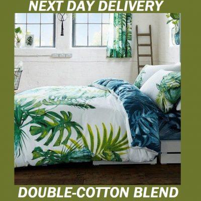 Palm Leaves Tree Tropics Botanical Double Doona Quilt Duvet Cover Set