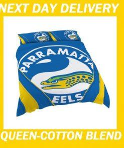 Parramatta Eels Licensed NRL Quilt Duvet Doona Bedding Cover Sets