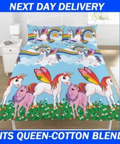 Kids Unicorn Fairy Doona