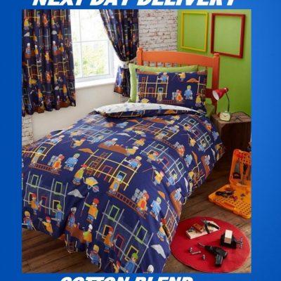 Boys Truck Roadworks Kids Licensed Quilt Duvet Bedding Cover Sets