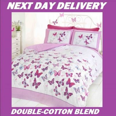 Butterfly Butterflies Double Kids Licensed Quilt Duvet Bedding Cover Sets